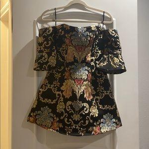 LPA Off the shoulder brocade dress